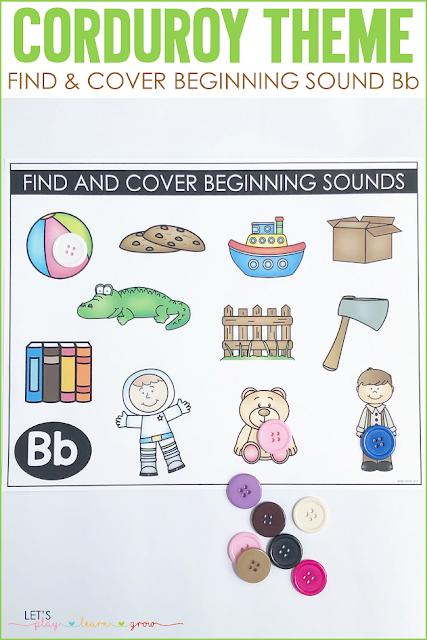 Corduroy: Find & Cover Beginning Sound Bb