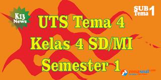 Latihan Soal UTS Kelas 4 Tema 4 Semester 1 K13