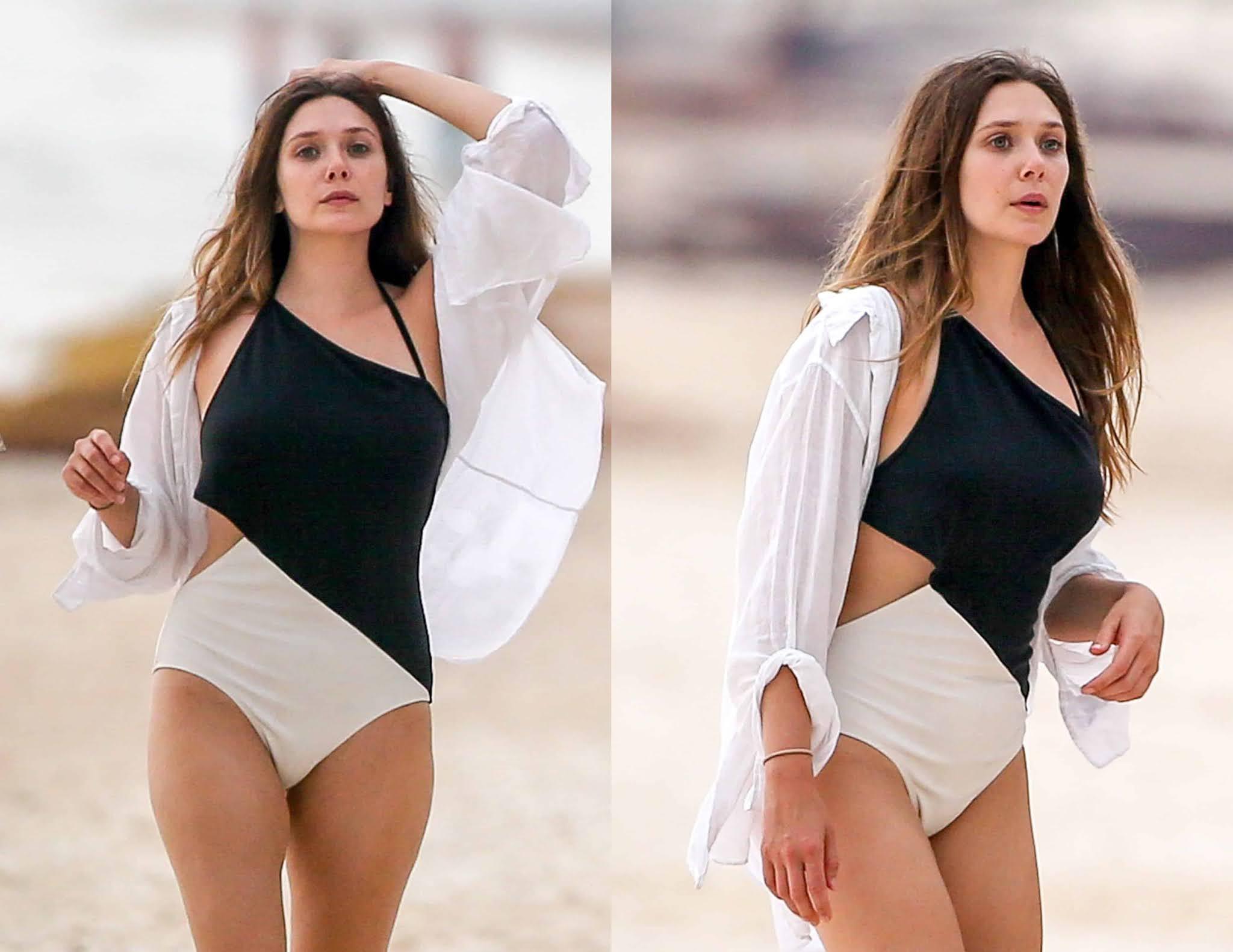 Elizabeth Olsen Sexy Photos: Hot Bikini Pictures | Navel & Cleavage Show