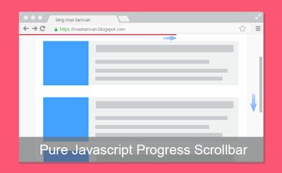 Pure Java Script Progress Scrollbar