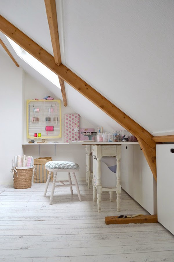 Frivole's attic craft room space