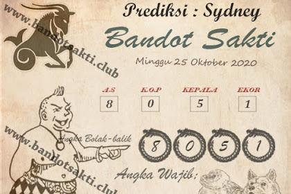 Syair Bandot Sakti Togel Sydney Minggu 25 Oktober 2020