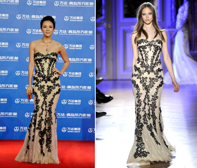 Zhang Ziyi in Zuhair Murad Couture – Qingdao Oriental Movie Metropolis Launch Event