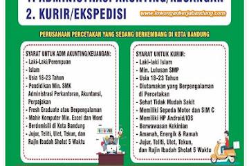 Lowongan Kerja Bandung Karyawan GK Offset Bandung
