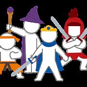 RPGのキャラクターのイラスト(棒人間)