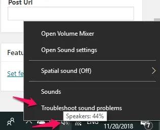 windows10- ميكروفون استكشاف الأخطاء وإصلاحها