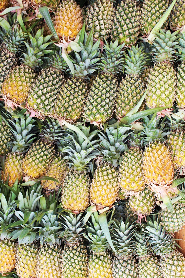 Fresh pineapples, Phnom Penh, Cambodia - travel blog