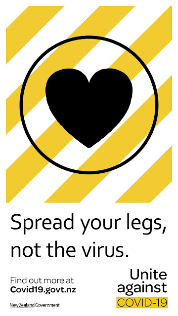 'Spread You Legs, Not COVID' funny NZ poster