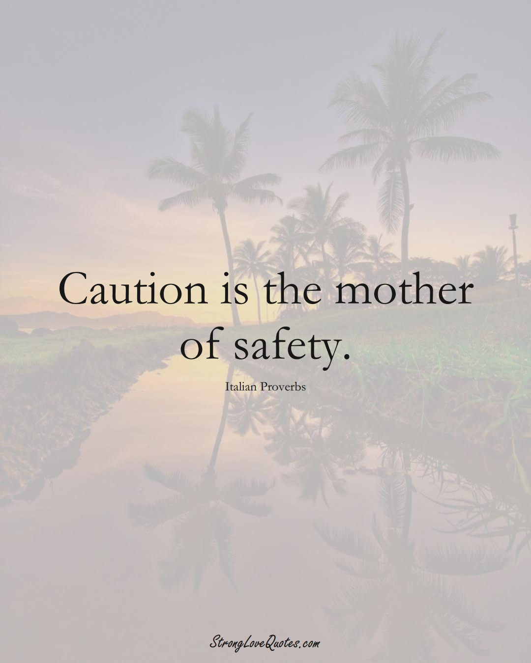 Caution is the mother of safety. (Italian Sayings);  #EuropeanSayings