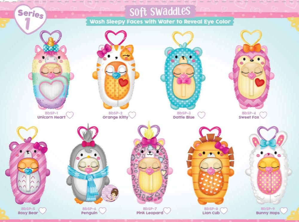 Cute Baby Born Pets in soft swaddles checklist