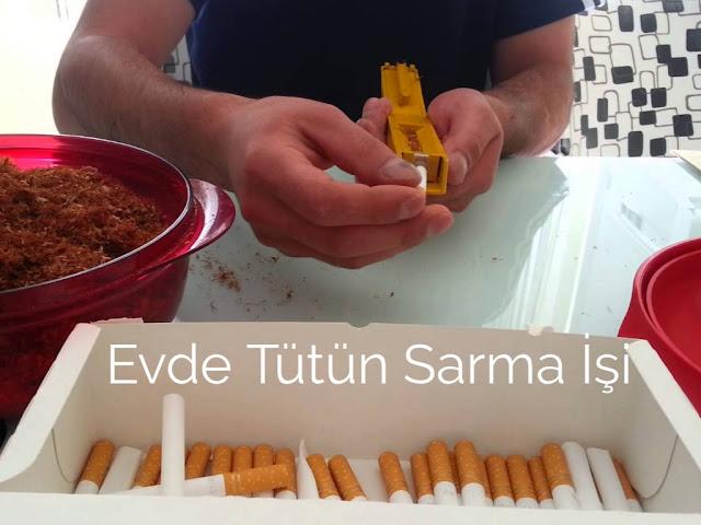 Evde Tütün Sarma İşi Yapma