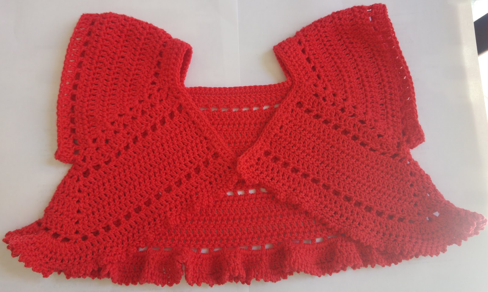 Crochet Knitting Butterfly Shrug