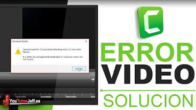 Error al Importar Videos Camtasia Studio - Solución