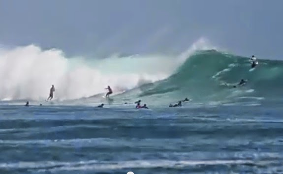 big wafe surfing g-land east java