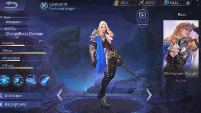 Gear Terkuat Untuk Hero Lancelot Mobile Legend Terbaru