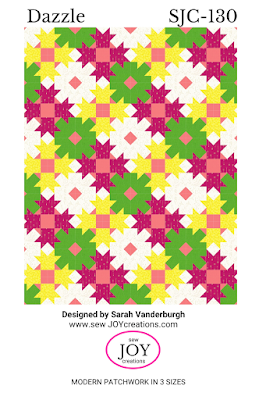 Dazzle quilt pattern Sarah Vanderburgh Sew Joy Creations