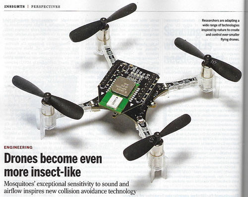 Adopting mosquitoes' collision avoidance behavior into drones (Source: J. Young & M. Garratt, Science, 8 May 2020)