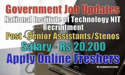 NIT Recruitment 2021
