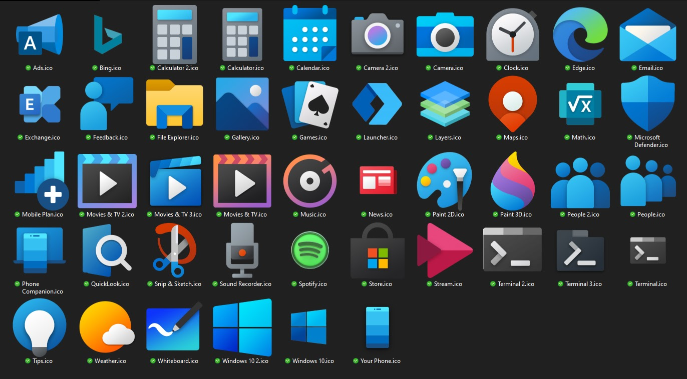 حزمة الرموز والأيقونات التي ستجعل واجهة Windows 10 مختلفة