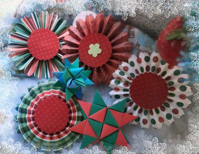 moravian stars christmas decorations rosettes