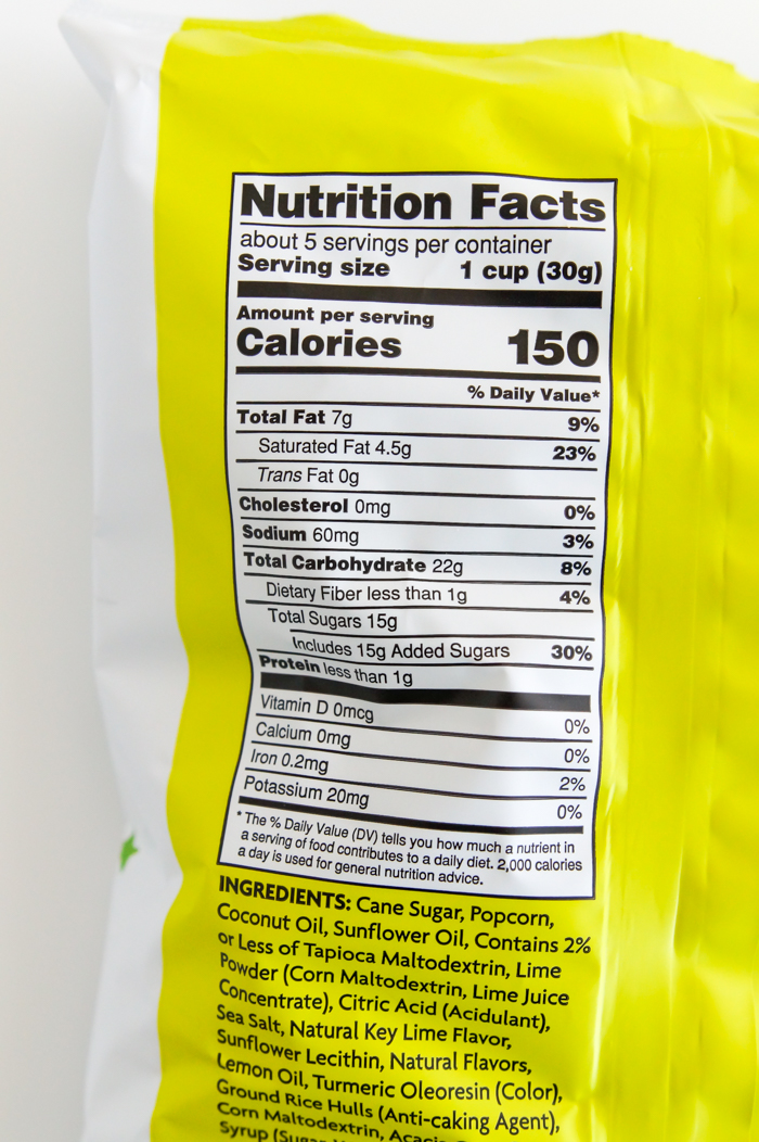 Trader Joe's Key Lime Kettle Popcorn review and nutrition facts