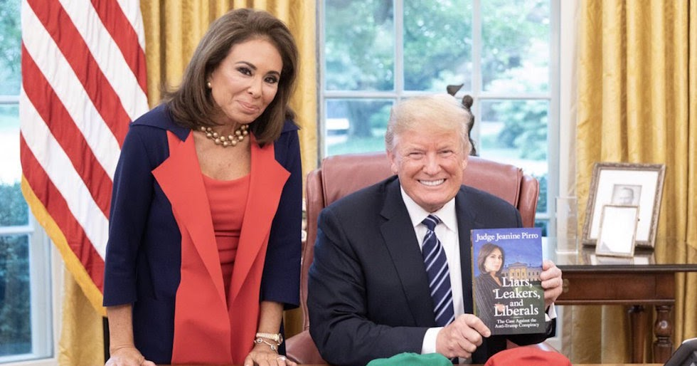 Image result for Watch Video: Judge Jeanine Pirro Takes a Job Consulting for the WhiteHouse .