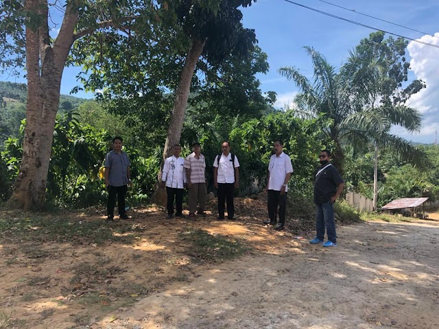 Survey dari Dinas Pendidikan beserta konsultan perencanaan tentang pengadaan Pagar di SMA Negeri 1 Sungai Beremas