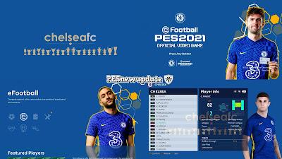 PES 2021 Menu Mod Chelsea FC 2021/22 by PESNewupdate