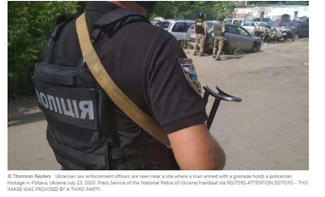 Ukraine police kill man after hostage taking, reliable says A man who