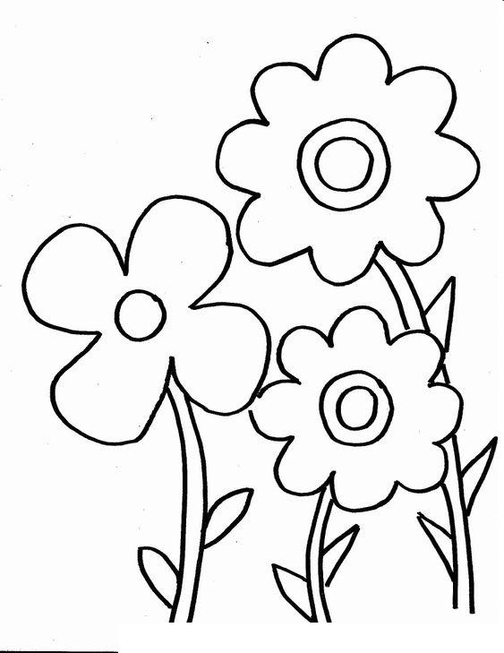 Tranh tô màu bông hoa đơn giản