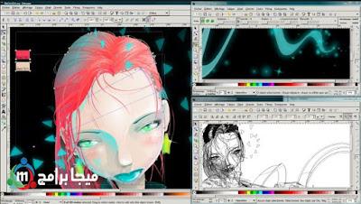 تحميل برنامج inkscape لانشاء وتحرير الرسومات الفيكتور