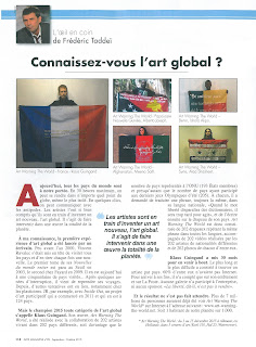 Article de Frédéric Taddeï sur Art warning the World & Klaus Guingand,l'art global...