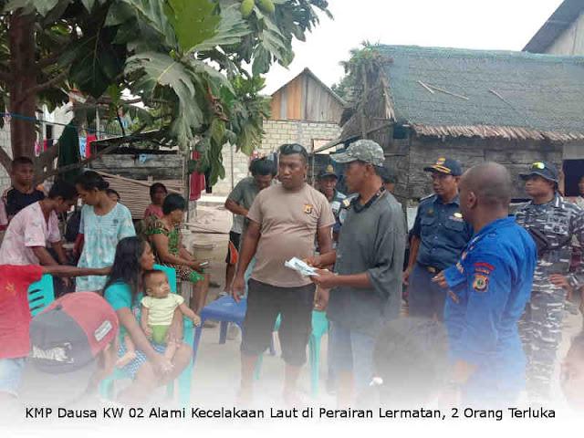 KMP Dausa KW 02 Alami Kecelakaan Laut di Perairan Lermatan, 2 Orang Terluka