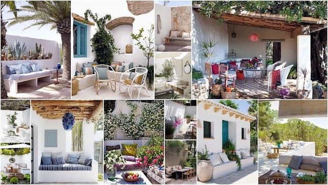 20 Πολύ όμορφοι Εξωτερικοί Χώροι διαμορφωμένοι με Χτιστούς Καναπέδες