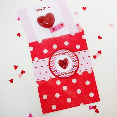DIY Sweet Heart Lollipop Valentine's Day Card