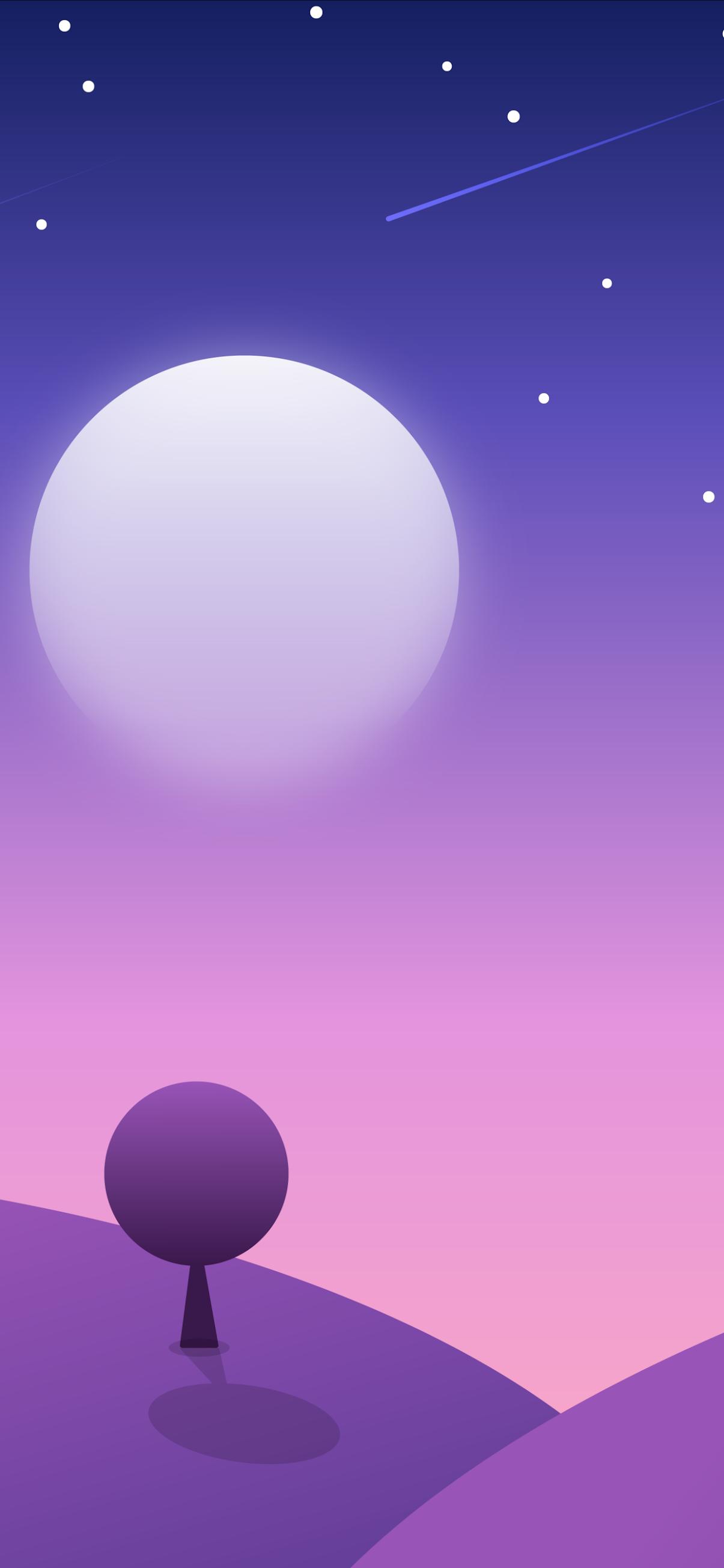 Moon minimal Mobile Wallpaper