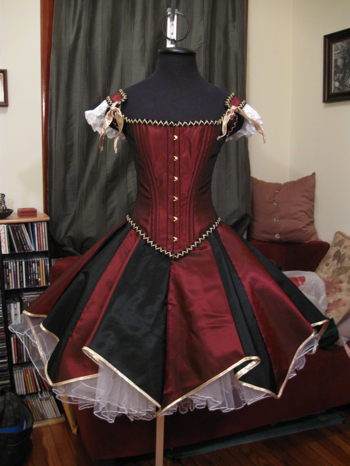 The Literary Assassin  some Harley Quinn dresses I have made circus acrobat victorian steampunk harley quinn dress corset