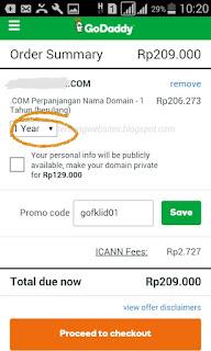 Cara perpanjang domain di godaddy melalui android