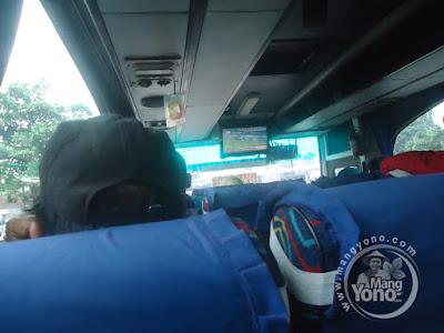 Didalam Bus Kramat Djati AC Subang - Kp. Rambutan