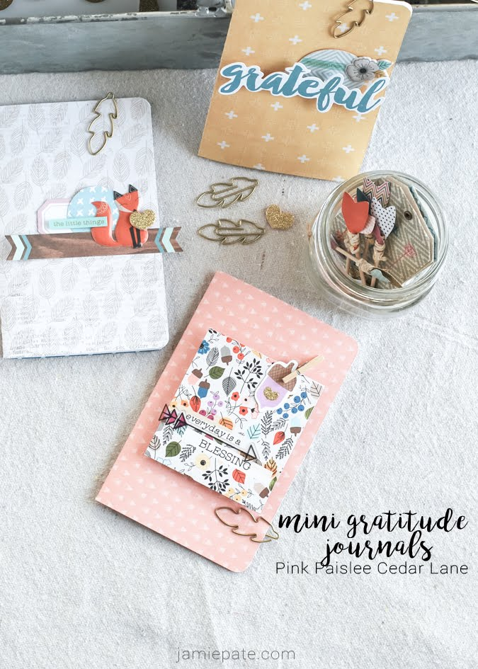 Mini Gratitude Journal made with Pink Paislee Cedar Lane by Jamie Pate  | @jamiepate for @pinkpaislee