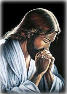 pintura de cristo meditando