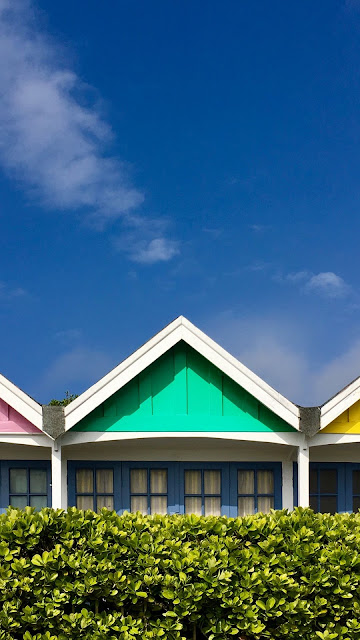 Wallpaper colorful houses