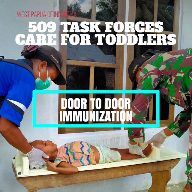 Caring About Toddler Health, Task Force 509 Holds Door to Door Immunization