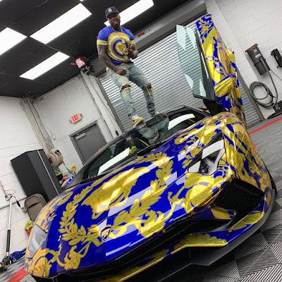 New Customized Blue Lamborghini