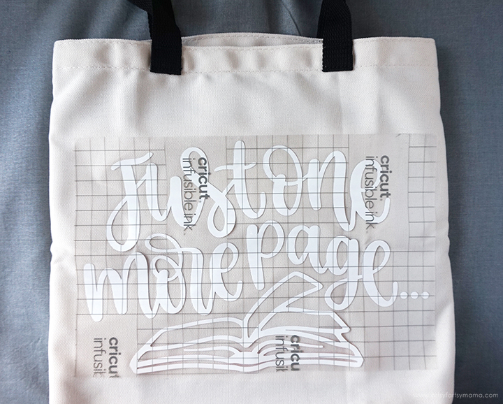 Cricut Infusible Ink Transfer Sheet on Tote