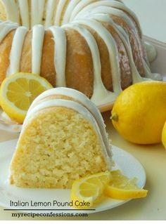 Italian Lemon Pound Cake