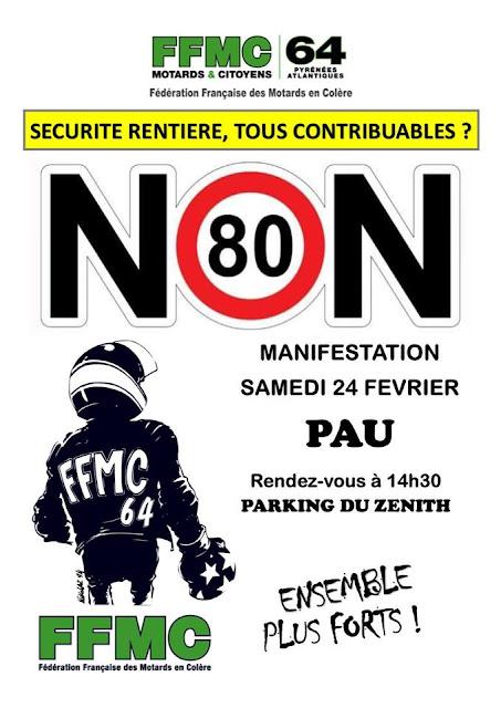 Manifestation contre la répression routière Pau