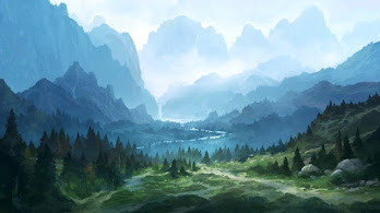 Nature, Forest, Mountain, Digital Art, 4K, #6.1280