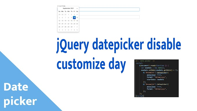 jQuery datepicker disable customize day | Create