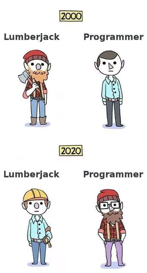 Programmer Then and Now Memes